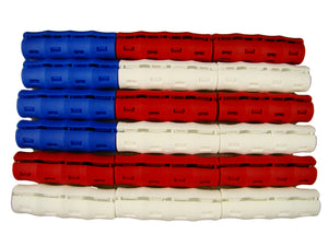 RED-WHITE-BLUE USA Flag Colors Snappy Grips 18pcs Bucket Handles-Gardening-Farm