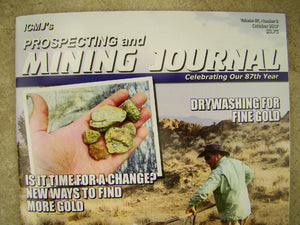 ICMJ's Prospecting & Mining Journal Magazine October 2017, Silverton's GOLD!!
