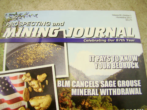 ICMJ's Prospecting & Mining Journal Magazine November 2017,  GOLD!!