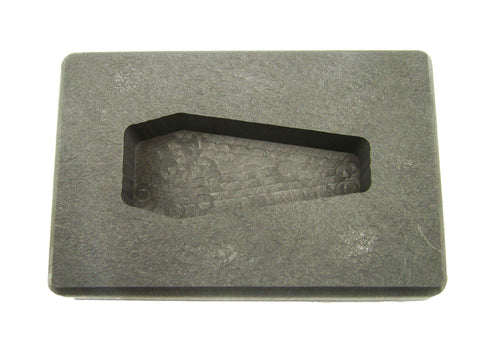 2 oz Coffin/Casket Shape Gold High Density Graphite Mold 1oz Silver Bar-USA MADE