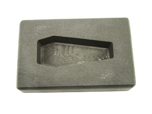 4 oz Coffin Shape Gold High Density Graphite Mold 2oz Silver Bar-Made in the USA
