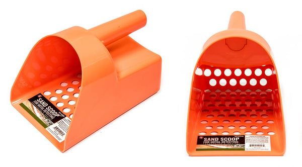 ORANGE Sand Scoop and Shovel Set for Metal Detecting & GOLD Treasure Hunting
