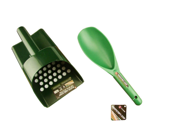 GREEN Sand Scoop and Shovel Set for Metal Detecting & GOLD Treasure Hunting