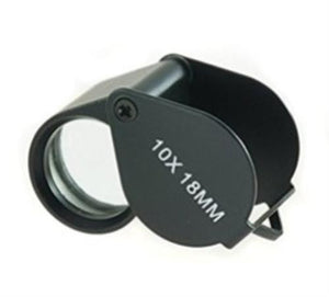 10x18MM Jewelers Loupe - Black in color - Ore-Minerials-Gems-Gold