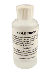 "2oz Bottle of ""GOLD DROP"" Remove Water Tension-Panning-Sluice KEENE ENGINEERING"