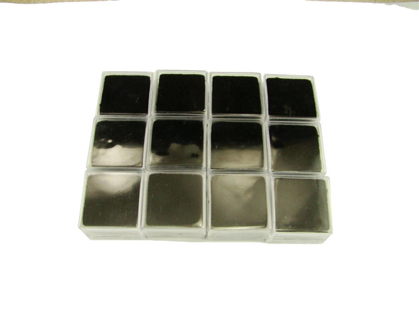 Lot of 12 Square Gold Nugget Display Cases w/ Black Foam-Gems Minerals Coin