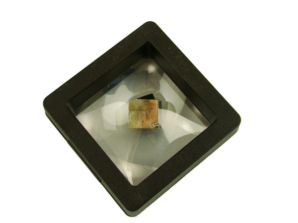 Navajun Spain Mine - Pyrite Cube Crystal With Display Case-#PC29