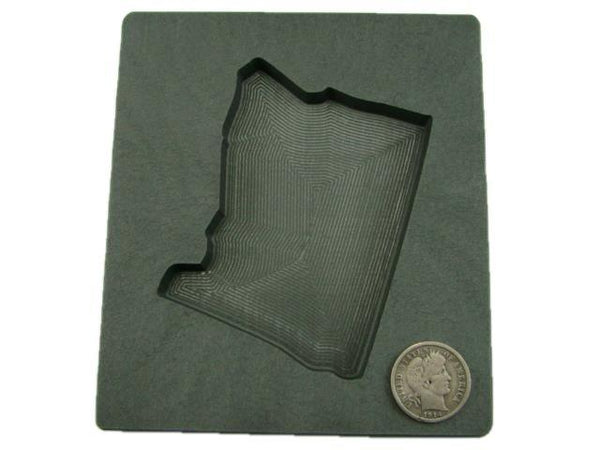 Custom Oregon Gold Bar 10 oz Graphite Mold Silver 6 oz