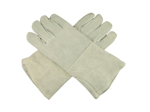 "1 Pair 13"" Leather Welding Gloves-Safety-Furnace-Gold Melting-Smelting"