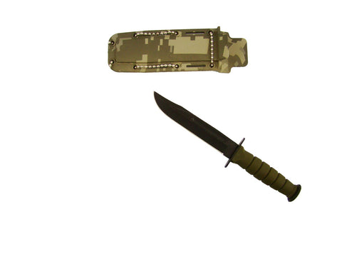 "Fixed Blade Neck 6"" Knife with Digital Camo Sheath"