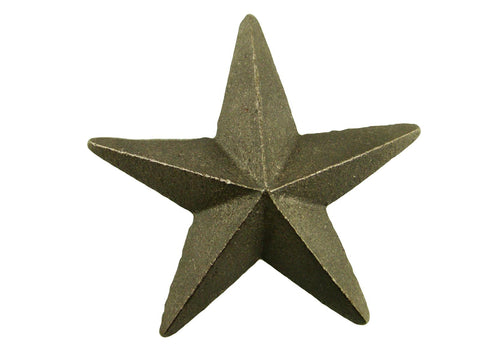 Cast Iron Star -Weldable Paintable Deco Fence Gate House Barn 3-3/8""