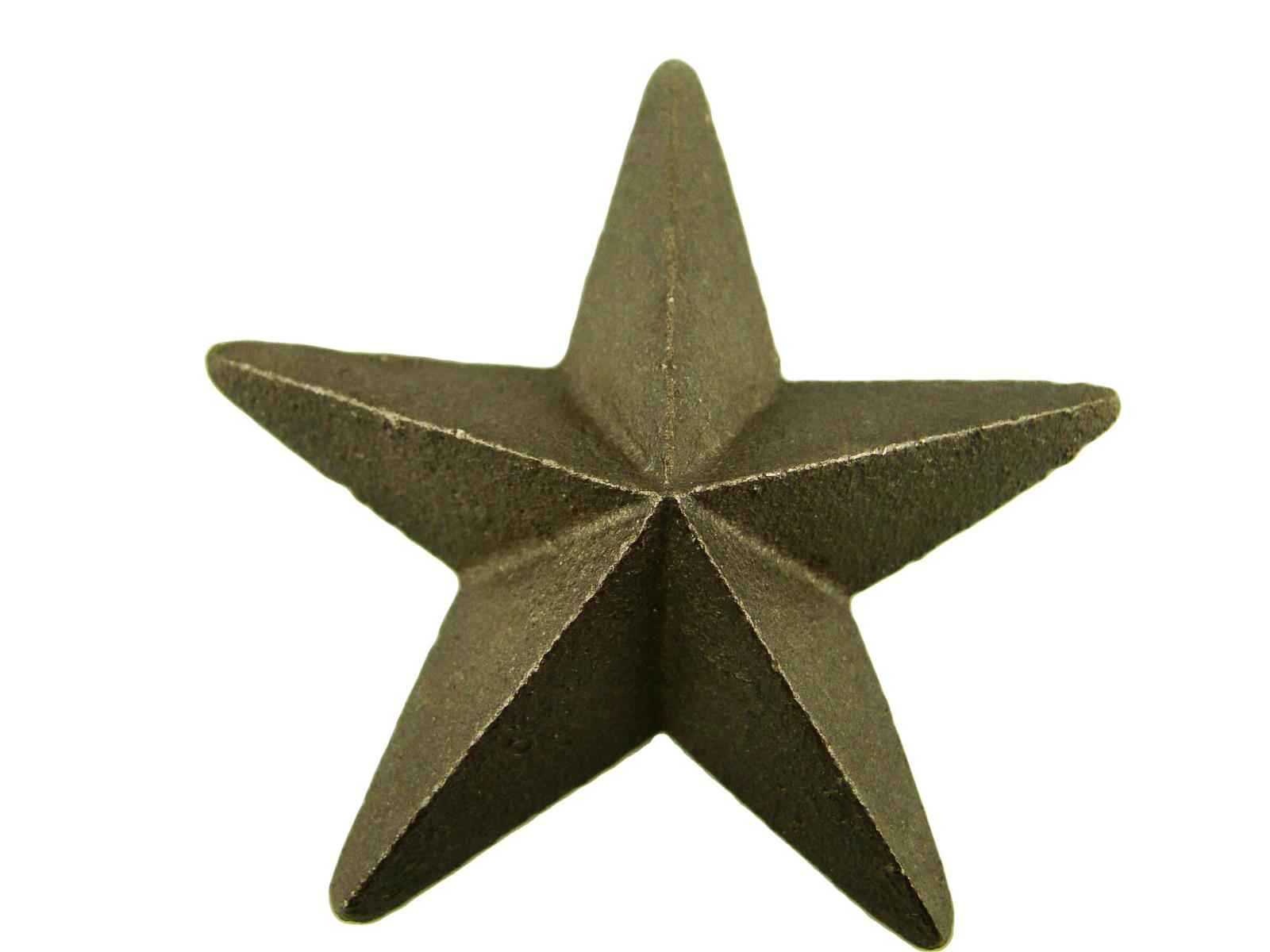 Cast Iron Star -Weldable Paintable Deco Fence Gate House Barn 2-7/8""