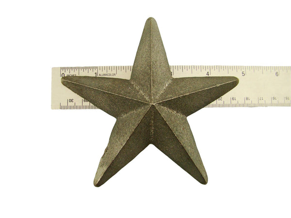 Cast Iron Star -Weldable Paintable Deco Fence Gate House Barn 4-3/4""