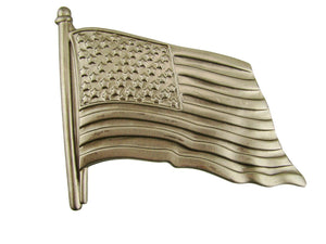 US FLAG Stamped Steel-Weldable Paintable Deco Fence Gate House Barn 5""
