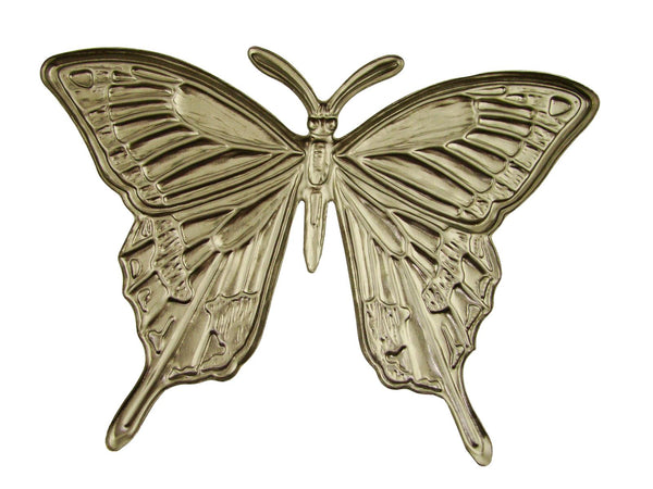 Big Butterfly Stamped Steel-Weldable Paintable Deco Fence Gate House Barn 3-7/8""