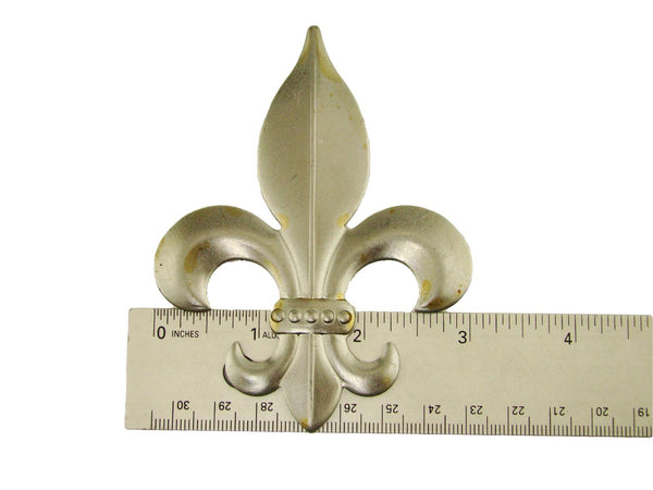 Plain Fleur-de-Lis Stamped Steel Weldable Paintable Deco Fence Gate Barn 3""