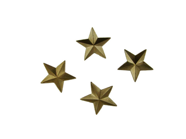 Set of 4 Small Star Stamped Steel Weldable Paintable Deco Fence Gate Barn 3/4""