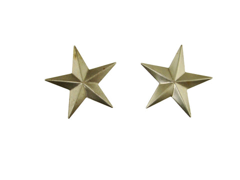 Set of 2 Small Star Stamped Steel Weldable Paintable Deco Fence Gate Barn 2""