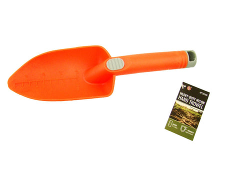 Orange Plastic Scoop Trowel Hand Shovel-Gold Metal Detecting Pointed End-Garden