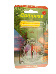 Survivial Compass with Yellow landyard - Map Reader - Camping - Backpacking