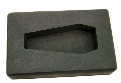 5 oz Coffin Shape Gold High Density Graphite Mold 2.5oz Silver Bar-USA Made