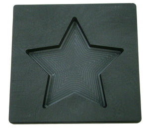 10 oz Gold STAR Shape High Density Graphite Mold 5oz Silver Bar-USA Made