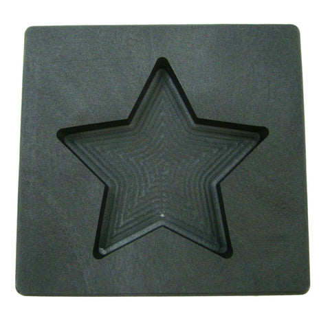 5 oz Gold Texas STAR Shape High Density Graphite Mold 2.5oz Silver Bar-USA Made