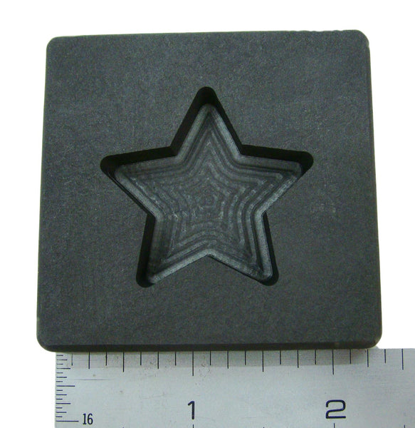 2 oz Gold Texas STAR Shape High Density Graphite Mold 1oz Silver Bar-USA Made