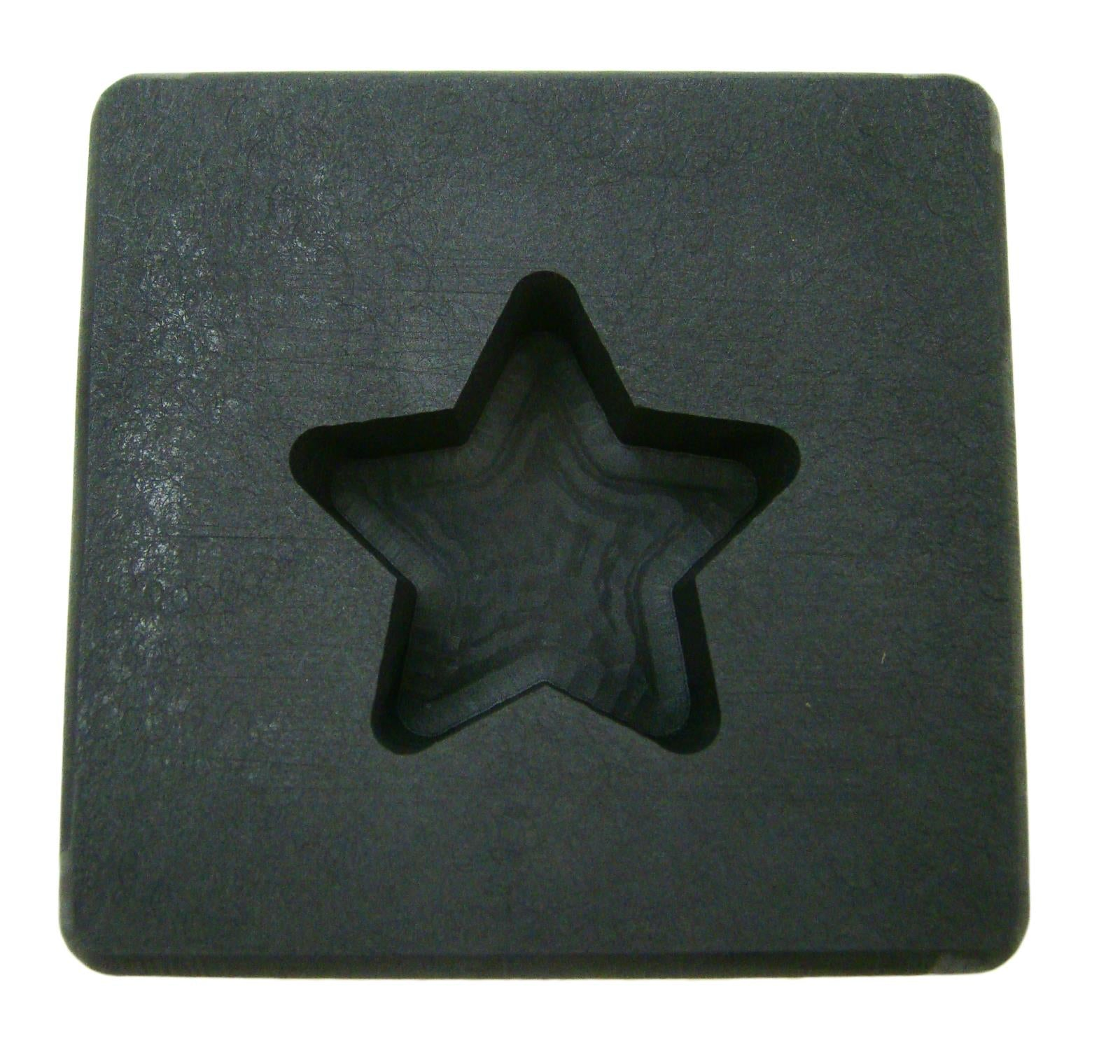 1 oz Gold Texas STAR Shape High Density Graphite Mold .5 oz Silver Bar-USA Made