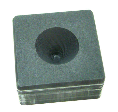 3oz High Density Graphite Mini Conical Mold- Assy Gold Silver Black Sand Cone