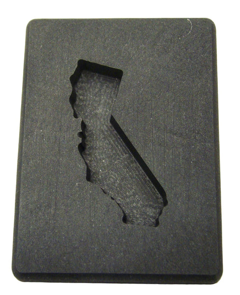Custom California Gold Bar 1oz+ High Density Graphite Mold Silver 1.5oz Copper