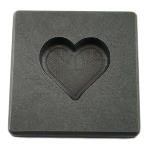 2 oz Valentines Day Heart Gold High Density Graphite Mold 1 oz Silver Necklace
