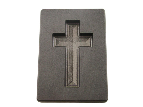 5 oz Gold Custom Cross High Density Graphite Mold 3 oz Silver Necklace 2-3/4""
