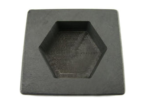 10 oz Gold 6 oz Silver Bar High Density Graphite Hexagon Mold Loaf-Pour Copper