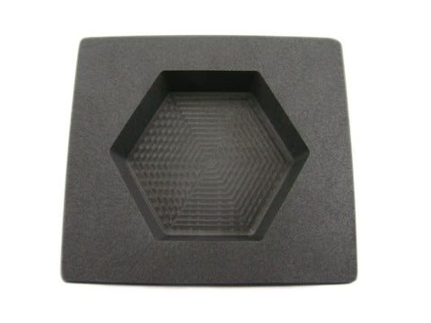 15 oz Gold 10 oz Silver Bar High Denisty Graphite Hexagon Mold Loaf Copper
