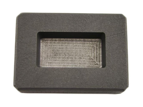 2 oz Silver Bar High Density Graphite Ingot Mold Loaf Style Rectangle Ag