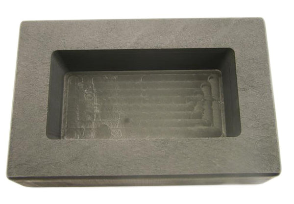1000 Gram Ag Silver Bar High Density Graphite Ingot Mold Loaf  1-Kilo 2.2 Lbs