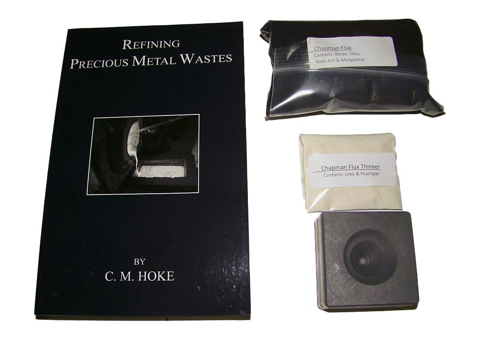 Refining Precious Metal Wastes Book Kit-Chapman Flux & Thinner+Conical Mold