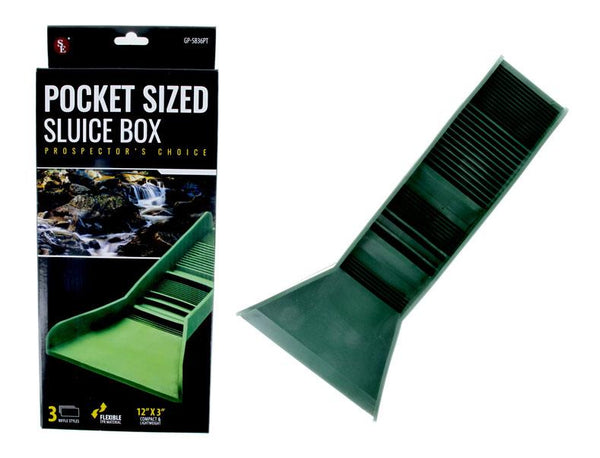 Flexible Rubber Pocket Sluice Box - backpacking Gold - Clean up