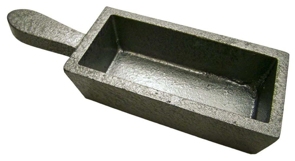 200 oz Gold Bar Loaf Steel Ingot Mold Silver 100 oz Cast Iron- Smelting Sterling
