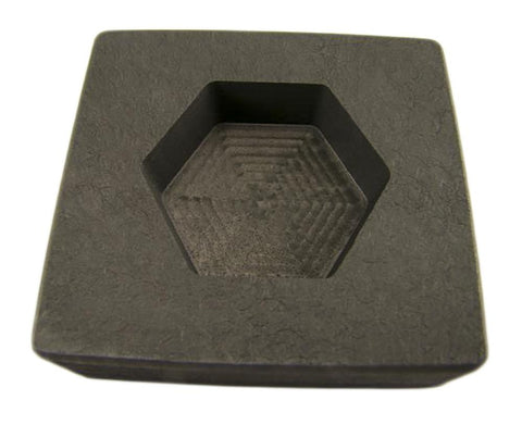 5 oz Hexagon Gold High Denisty Graphite Mold 3 oz Silver Bar Loaf-Copper