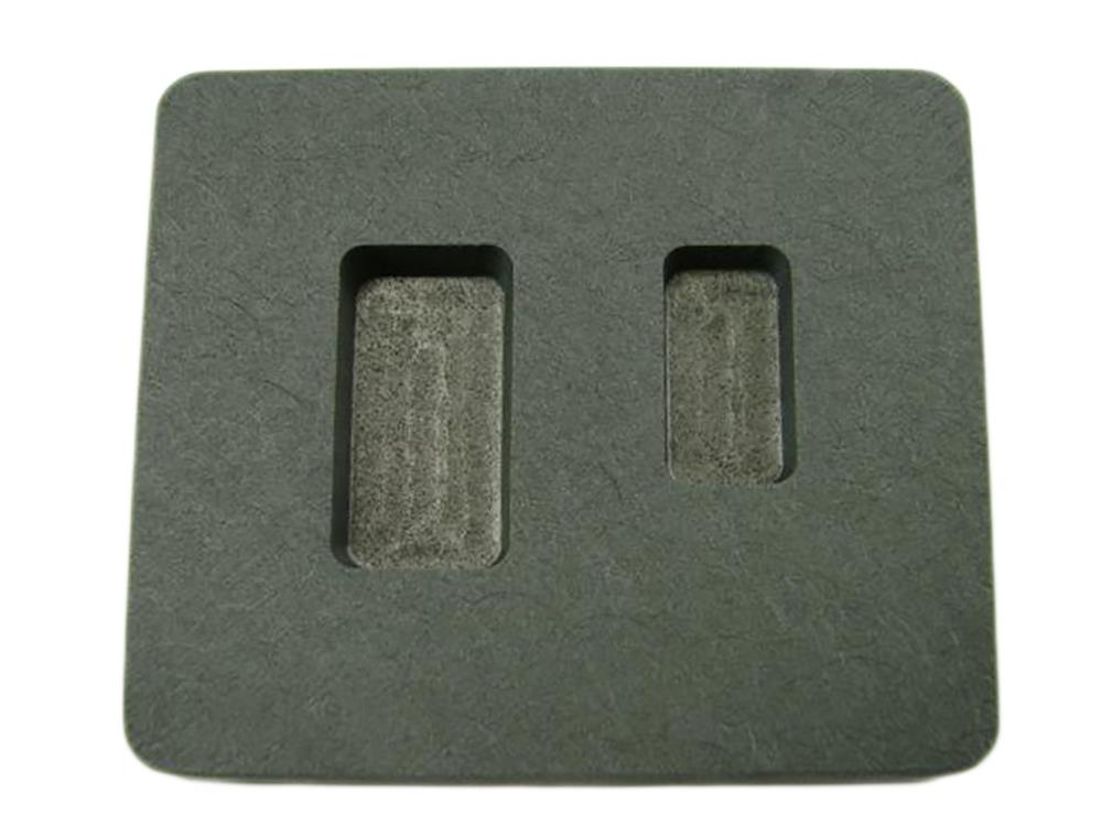 1/4 oz & 1/2oz Gold Bar High Density Graphite Mold Combo Silver Loaf Style
