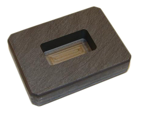 1 oz Gold Bar High Density Graphite Ingot Mold  Loaf 1/2 oz Silver - Copper