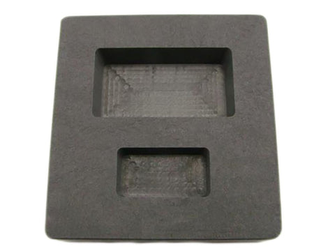 1 oz & 5 oz Gold Bar High Density Graphite Mold Combo Loaf - Silver  2 Cavity