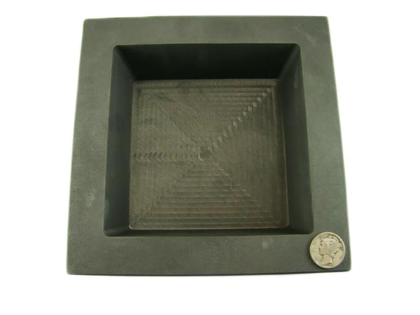200 oz Gold 100 oz Silver Bar High Density Graphite Square Slab Mold Loaf