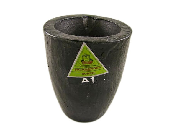 #1 - 75 oz Gold Graphite Crucible Silicon Carbide Furnace Super Salamander A1