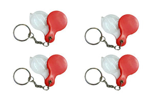 Lot of 4 KeyChain Loupes - Red in color - Ore-Minerials-Gems-Gold