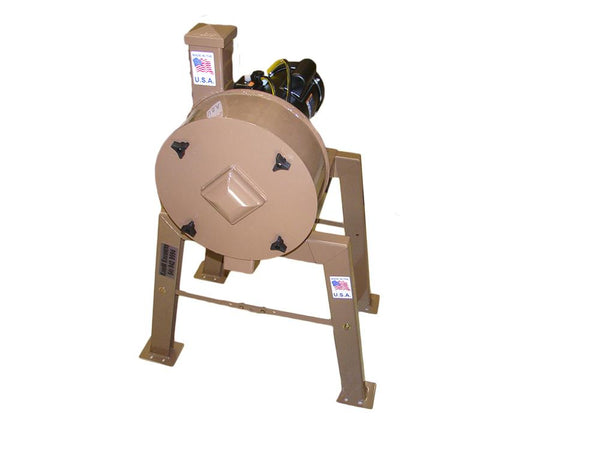 "Rock Crusher 1hp Elec Motor-Gold Ore-14"" Drum 3"" Infeed - K&M Krusher W/ Legs"