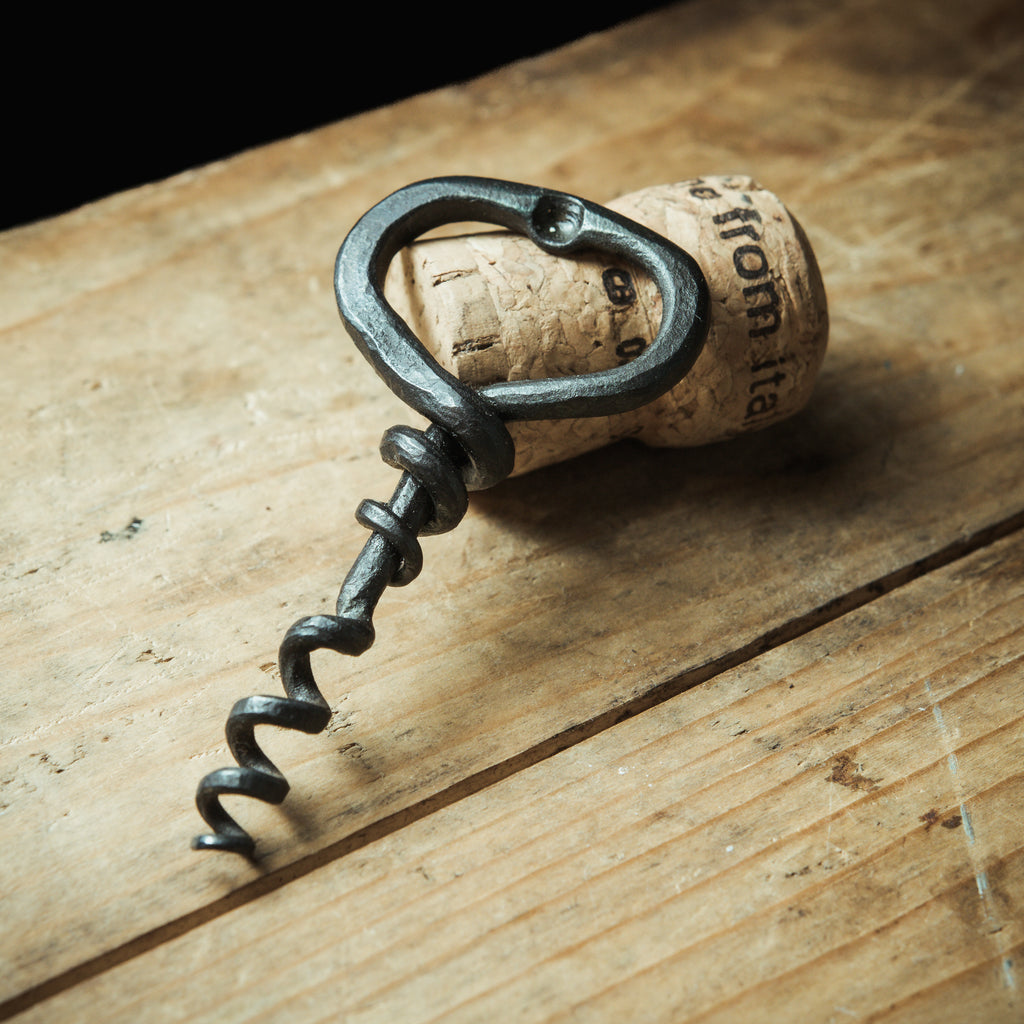Forged corkscrew with bottle opener - Wine and beer opener.