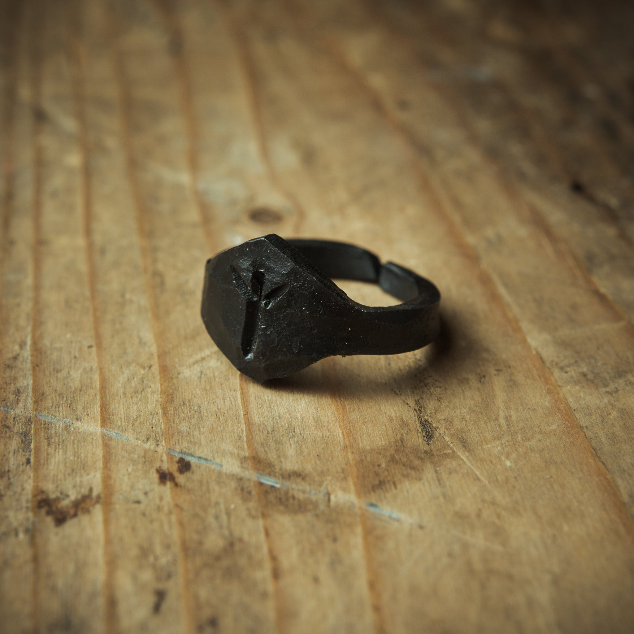 Viking ring with rune engraved